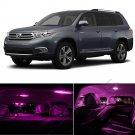 11pcs Pink LED Interior Light Bulbs Package Deal for 2008 & Up Toyota Highlander