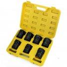 New 7Pc Axle Bearing 4x4 Socket Set Wrench Lock Nut Wheel Automotive Case Tools