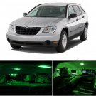 12pcs Green SMD LED Lights Interior Package Kit For 2004-2008 Chrysler Pacifica