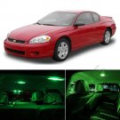 10pcs PURE GREEN LED Light Interior Package Kit For 2000-2005 Monte Carlo