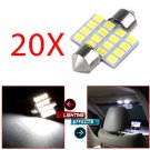 20x Super White 16SMD Led Interior Dome Lights Bulbs/bulb 31mm Festoon