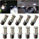 10pcs Car RV Trailer White 1156 BA15S 5050 18smd LED Light Bulbs 7503 1141 1073