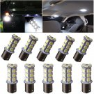 20pcs Car RV Trailer White 1156 BA15S 5050 18smd LED Light Bulbs 7503 1141 1073