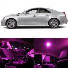 15x Pink LED Lights Interior Package Kit For 2008-2013 Cadillac CTS / CTS-V