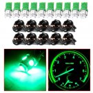 10 Green Pack Led instrument Panel Dash Light Bulb Auto Twist Lock Wedge Socket