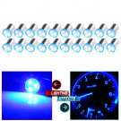 20pcs Blue Led Dash Indicator BA9S Instrument Panel Cluster Gauges Light Bulbs