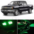 18PCS For Chevy Silverado 99-06 Super Green Car Interior LED Light Package Deal