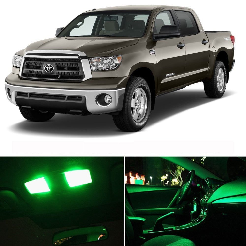 14pcs full green smd led lights interior package kit for toyota tundra 2007 2016