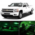10x Full Green Interior LED SMD Light Package Kit for 2007-2013 Chevy Silverado