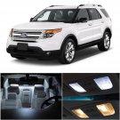 10x White LED Interior Light Bulbs Package Kit Fit For Ford Explorer 2011 & Up