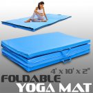 Foldable Yoga Mats Exercise Stretching 4'x10'x2 Gymnastics Portable Workout Fits