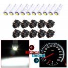 (10) Twist Lock 2-2835-SMD T5 Instrument Cluster Indicator Led Bulbs White Light.