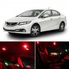 8x Red LED Interior Lights Package Kit for 2013 & up Honda Civic Coupe/Sedan