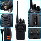 8x Retevis H777 Handheld Walkie Talkie UHF 16CH 5W Two Way Radio + 8x PTT Mic