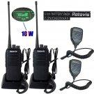 2x Retevis RT1 WalkieTalkie UHF400-520MHz 3600mAh 10W VOX Ham Radio 2x PTT Mic