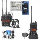 3x Retevis RT6 IP67 Waterproof Walkie Talkie 5/3/1W VHF/UHF 128CH Two Way Radio