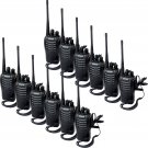 New 12x Retevis H777 Walkie Talkie 16CH UHF 5W CTCSS/DCS 2-Way Radio,Earpiece
