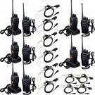 New 10x Retevis H777 Walkie Talkie 16CH UHF400-470MHz 5W 2Way Radio+10x Earpiece
