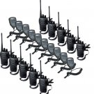 10x Retevis H777 Walkie Talkie 16CH UHF400-470MHz 2Way Radio+ 10x PTT Mic