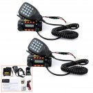 2x200CH Dual Band DTMF Mobile Vehicle Ham Radio Transceiver+ Speaker Mic