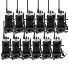 12x Retevis RT7 Silver 2-Way Radio UHF 16CH CTCSS/DCS Walkie Talkie+ Earpiece
