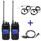 2x Retevis RT3 UHF 400-480MHz Digital DMR Radio+ Cable+ 2x Retractable Earpiece