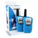 2x Retevis RT388 Sky Blue Kids Walkie Talkie UHF LCD+Flashlight 2-Way Radio