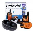 Retevis RT-602 Twin Walkie Talkie Orange for Kids LCD Display Flashlight Radio