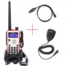 Retevis RT5 Dual Band 8W 128CH UHF/VHF DTMF 2Way Radio+ PTT Speaker Mic+Cable