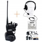 Retevis RT-B6 Walkie Talkie DualBand VHF/UHF 5W 99CH 2way Radio+Headset earpiece