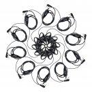 10x 2 Pin D-Shape Soft Ear Hook Earpiece for Retevis H777 Baofeng 888S Radio