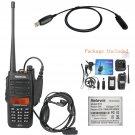 IP67 Waterproof Anti-Dust Retevis RT6 VHF/UHF 128CH 1/3/5W 2Way Radio +Cable