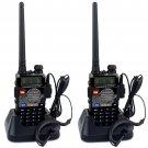 2x Walkie Talkie Retevis RT-5RV VHF/UHF 5W 128CH VOX FM 2-Way Radio, Earpiece