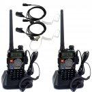 2x Walkie Talkie Retevis RT-5RV 128CH VHF/UHF 5W VOX FM 2-Way Radio+2×Earpiece