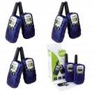 8x Retevis T-388 Kids Blue Walkie Talkie UHF LCD Display+Flashlight 2-Way Radio