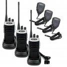 3x Retevis RT7 Walkie Talkie 16CH 5W UHF400-470MHz FM Radio+ 3x Speaker Mic