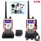 2× Retevis RT5 Walkie-Talkie VHF+UHF 8W 128CH CTCSS/DCS VOX FM 2-Way Radio