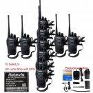 10x Retevis H777 Walkie Talkie 16CH CTCSS/DCS UHF 5W Two Way Radio+ Earpiece