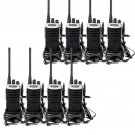 8x Retevis RT7 Walkie Talkie 16CH UHF 5W VOX Scan 2-Way Radio+Earpiece Silver