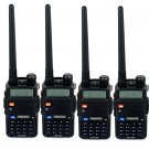 4x Retevis RT-5R Walkie Talkie 128CH VHF/UHF 5W CTCSS/DCS Two Way Radio