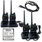 4x Retevis RT-5R 2Way Radio 128CH VHF/UHF 5W CTCSS/DCS Walkie Talkie +Cable