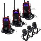 3x Retevis RT5 Walkie Talkie 128CH VHF/UHF 8W 2-Way Radio+3x Mini Speaker Mic