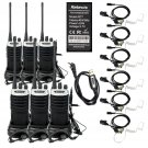 6x Walkie-Talkie Retevis RT7 16CH VOX 5W UHF FM 2-Way Radio+6xPPT Earpiece+Cable