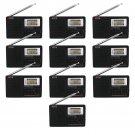10x Portable Stereo DSP MW/SW/LW/FM Radio Full Band World Receiver Clock Alarm