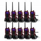 10x Walkie Talkie Retevis RT5 VHF/UHF 8W 128CH US Charger 2-Way Radio+Earpiece