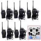 10×Retevis H-777 Walkie Talkie UHF400-470MHz 5W 16CH 2Way Radio Free-earpiece