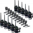 New 10x Retevis RT-5R Walkie Talkie VHF/UHF 5W 128CH 2-Way Radio + 10xPTT Mic