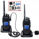 2×Retevis RT8 IP67 Waterproof Drop Resistance DMR 5W UHF 1000Ch 2Way Radio