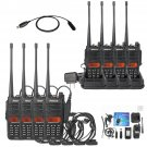 8X IP67 Waterproof Retevis RT6 2Way Walkie-Talkie 128CH VHF/UHF 5/3/1W +Cable