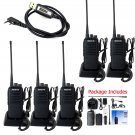 5x Retevis RT1 10W Walkie Talkie UHF 16CH 3600mAh 2-Way Radio+ Programming Cable